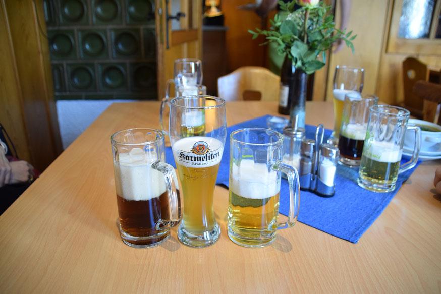 右からGold、Weizen、Dunkel