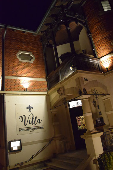 宿泊したHotel Villa Straubing。外観とってもオシャレ